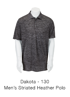 Dakota Striated Heather Polo
